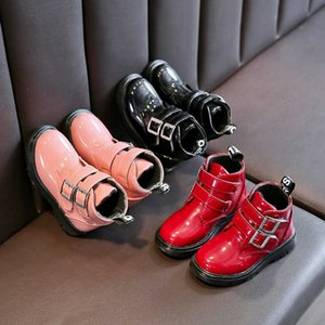 Girls' boots spring and autumn big fashion children's shoes Brand Men Women Waterproof Leather Sneakers