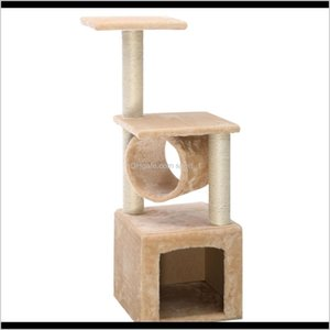 Scratchers Deluxe 36 Cat Tree Condo Furniture Play Toy Scratch Post Kitten Pet House Beige 0Rc4N 0Wk1G