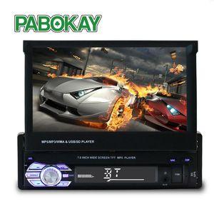 Jogador Forcar Radio Suporte Estéreo GPS Navegação Universal 7 Polegada Deslize para baixo Touch 1Din FM Somente Bluetooth MP3 MP4 Audio Car DVD