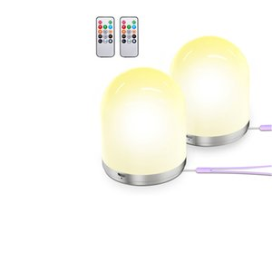RGB Colorfuls Lamps Night Light with Remote Control Colorful For Children USB Rechargeable Lamp Kids Baby Bedroom Gift Home Decor Table Lights CRESTECH168
