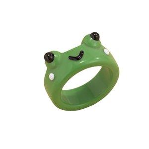Anillo de resina para las mujeres 3d anillo colorido rana accesorios de joyería lindos para niña Regalo de Navidad