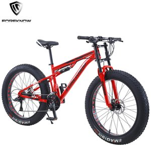 FOREKNOW 24 26 Inch Wheel Adult Mountain Fat Bike 30Speed Variable Speed Sports Bicycle Carbon Steel Frame Cycling Off-road MTB