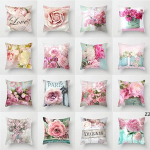 decorative pillow covers for christmas Halloween rose printed Short plush pillows 45*45CM bed soft bag pillowcase Cushion HWB10549