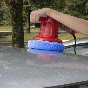 Car Polisher Pad Bonnet Soft Microfiber Polishing Buffing Cover Plush Waxing Sleeve Sponge