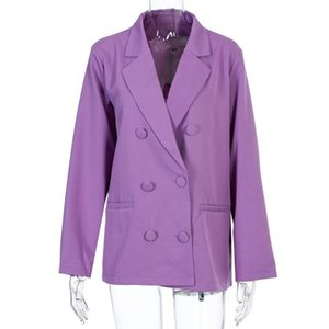 Women's Suits & Blazers 2021 Chic Loose Blazer Pieces Single Breasted Formal Suit Coat Vintage Female Outerwear Tops