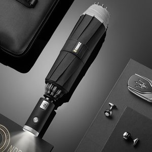 Xiaomi Youpin Home Zuodu Automatic Folding Open Reverse Umbrella With Flashlight Creative Sunny Rain Strong Reflective Anti-wind Umbrellas