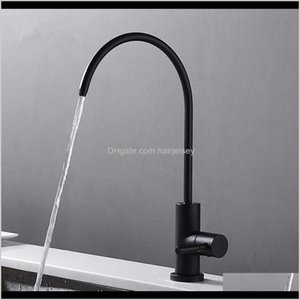 Kitchen Faucets Matte Black Stainless Steel Tap Ro Lead Beverage Faucet Drinking Water Filtration System 1 4-Inch Tube C9Uxz Pjfvz
