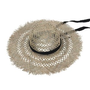 Summer Sunscreen Straw Hat Women European American Fashion Panama Hollow Salty Grass Sun Hat Big Brim Beach Hat