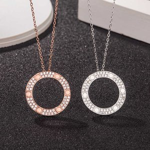 Kajia Single Ring Cake S925 Sterling Sier Plated 18k Rose Gold Fashion Brand Screw Necklace Clavicle Chain
