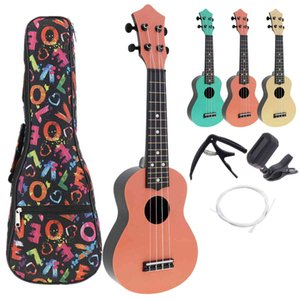 21 Inch ABS Ukulele 4 Strings Full Kits Acoustic Colorful Hawaii Guitar Guitarra Instrument for Children and Music Beginner