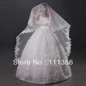 Bridal Veils Lace Edge Ivory White Luxury Cathedral Wedding Veil Accessories Long Velos De Novia Bride