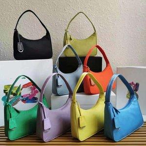 2021 Top quality 9 colors Re-edition Underarm bag 2000 Nylon leather Shoulder bags Women Crossbody messenger Handbag wholesale