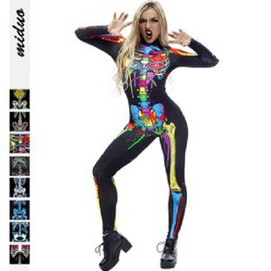 Anime Costumes Stereoscopic 3d Digital Printing Skull Womens Jumpsuit New Anime Cosplay Costumes Cosplay Halloween Costumes Gifts