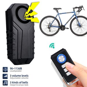 Bike Horns Wireless Anti-theft Alarm Motorcycle Electric Bicycle Waterproof 113dB Security Anti Lost Remote Control Vibration Sensor