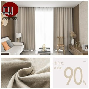 Curtain & Drapes Thick Texture Blackout Curtains For Living Room Solid Bedroom Window Treatment Custom Size