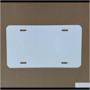Other Office School Supplies Sublimation Aluminum License Plate Blank White Aluminium Sheet Diy Thermal Transfer Advertising Plates Cu Qctsl