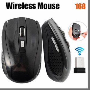 168D Mice 2.4GHz USB Optical Wireless Mouse Receiver Smart Sleep Energy-Saving for Computer Tablet PC Laptop Desktop With White Box