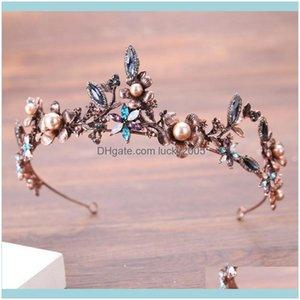 Headpieces , & Eventsvintage Rose Gold Bridal Rhinestone Crystals Masquerade Wedding Crowns Headband Hair Aessories Party Tiaras Baroque Han