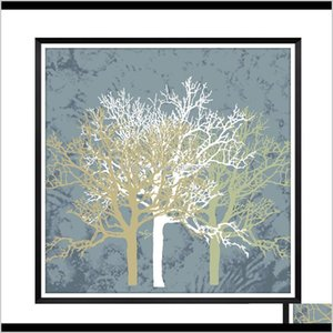 Paintings Nordic Style Wall Tree Home Art Painting Living Room And Bedroom Decoration Without Picture Frame Wkfn8 Gtjah