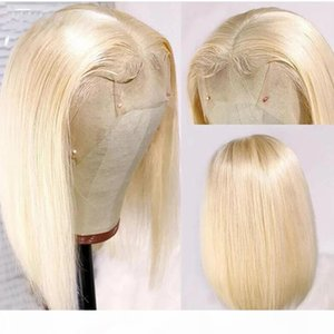 613 Honey Blonde Short Bob Lace Front Human Hair Wigs For Women Remy Brazilian Straight Hair Lace Wig