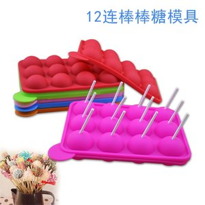 1PC 12 20 Holes Chocolate Ball Cupcake Cookie Candy Maker DIY Baking Tool Silicone Pop Lollipop Mold Stick Tray Cake Mould 1853 V2