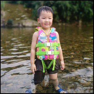 Life Vest & Buoy Childrens 7-10 Years Old Girls Boys Buoyancy Swimming Rafting Beach Portable Lightweight Summer Kids Safety Jacket -40