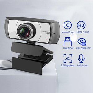 Streaming Webcam USB Computer Video Camera Manual Focus With Micr For Meeting Online Training Live Webcams