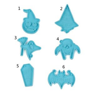 Craft Tools Halloween Keychain Epoxy Resin Mold Jewelry Pendant Silicone Mould DIY Crafts Earrings Necklace Casting Dorp Ship