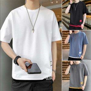 High quality T-shirts 2021 trendy brand Korean Short Sleeve summer new trend base Shirt Youth loose t-shirt men's