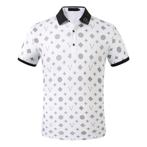 Mens Designers Polo Shirts Men Casual Polos Fashion Letter Print Embroidery Summer T Shirt High Street Cotton Size M-3XL
