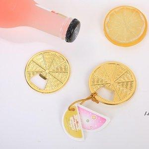 Golden Zinc Alloy Lemon Slice Beer Bottle Opener Wedding Gifts Creative Party Favors AHB6317