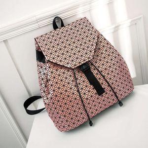 Women's bag women's backpack city simple trend lattice creativity
