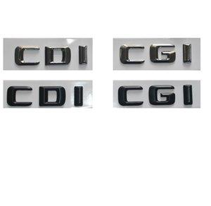 Chrome   Black Plastic CDI CGI Car Trunk Rear Sides 3D Letters Emblem Embelms Badge Badges Letter Sticker for Mercedes Benz AMG
