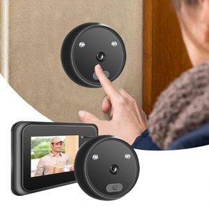 Doorbells R11 LED Flash Home Cordless Smart Door Bell 2.4 Inch Peephole Camera Security Alarm  Welcome Doorbell