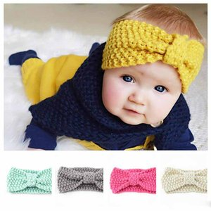 16 Colors Knitted Headband Mother And Me Baby Warmer Knitted Hairband Infant Crochet Wide Stretch Headwrap Turbans Hair Accessories