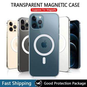 Casos de cristal dura capa de magsafe para iPhone 13 12 11 Pro MAX mini Magnético Shell Case Funda
