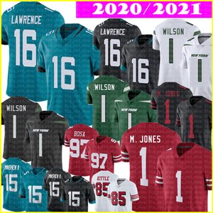 16 Trevor Lawrence Jersey 1 Mac Jones Zach Wilson Jerseys 15 Gardner Minsheu II 97 Nick Bosa 85 George Kittle Jimmy Garoppolo Fußball