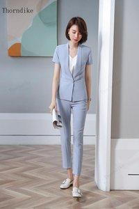 Thorndike 2021 Womens Formale Abiti da donna uniforme elegante Business Pantaloni da donna Abbigliamento da lavoro Office Blazer da donna