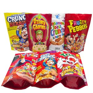 edibles packaging snack bags 1000mg trix fruity pebbles froot loops mylar bag smell proof plastic stand up pouch with zipper in stock