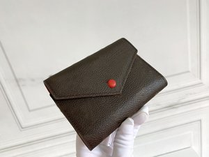 2021 Çanta Çantalar Moda Basit Kare Kart Tutucu Cüzdan Bayan Pasaport Sahipleri Lady Katlanmış Çanta Bayanlar Para Kılıfı Kutusu Ile