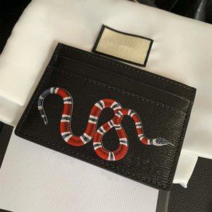 Coin Pocket Snake shape pure leather Card Holders Plain Fashion Fresh designer Cardholder Mens and Women Cowhide Wallet holde bag handbag