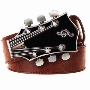 metal Fashion Men's belt buckle belts Retro guitar Street Dance accessories Performance apparel hip hop waistband novel belt