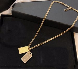 Women Men Have Stamps Fashion Letter Pendant Necklace Chain Luxury Designer Necklaces For Lady Party Wedding Lovers Gift Hip Hop Jewelry With Box