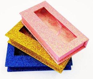 silver pink NEW 10 20 40pcs wholesale square false eyelash packaging box fake 3d mink eyelashes boxes faux cils magnetic case lashes empty