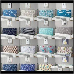Other Bedding Supplies Solid Color Cloth Bedhead Covers Elastic Cover Cactus Trellis Printed Headboard Case Dustproof Home Decor Livin Bd1Vu