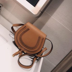 Ladies handbags designed by famous fashion brands in 2021, high-quality real cowhide Cloe mini Marcie One single-shoulder cross-body saddle bag