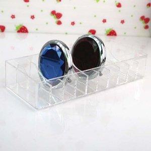 Bathroom Storage & Organization 10 Grid Clear Acrylic Makeup Organizer Cosmetic Box Powder Desktop Women Lipstick Holder Brushes