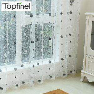 Занавес Drapes Top Finel 2021 Bird Nest The Sheer Panel Вышитые шторы для кухни Гостиная Спальня Tulle Окно Лечение
