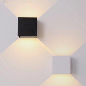 COB Wall Light 85-265V IP65 Waterproof Aluminum Lamp for Indoor Outdoor Stair Bathroom Garden Porch Bedroom Mirror