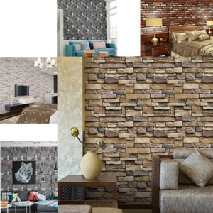 Wall Paper Brick Stone Rustic Effect Self-adhesive Sticker For Living Room Bedroom Art Decals Home Decor Stickers